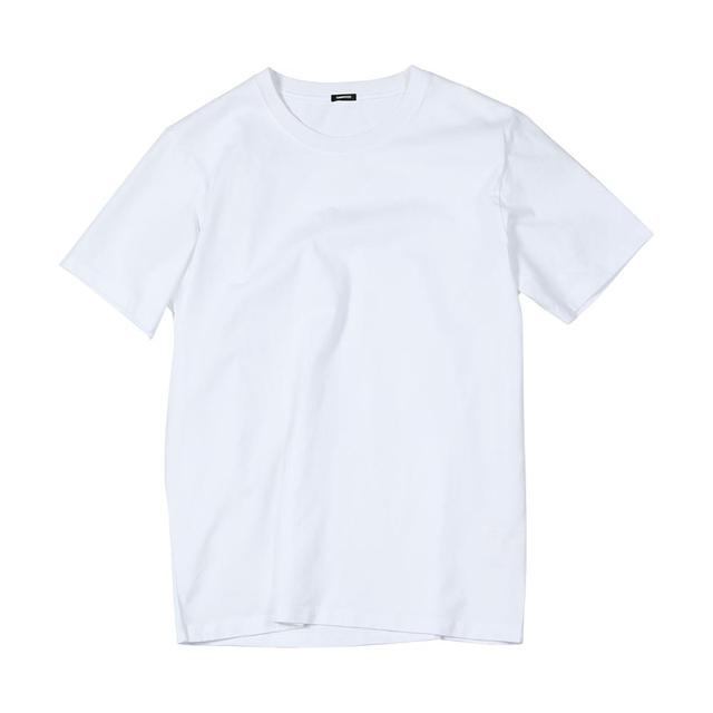 2020 summer new 100% cotton white solid t shirt   5
