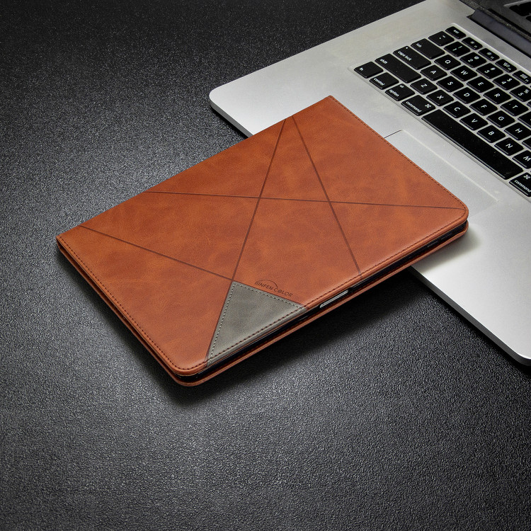 Brown White Case For iPad Pro 12 9 2020 2018 With Wallet Holder PU Leather Cover Silicone Soft