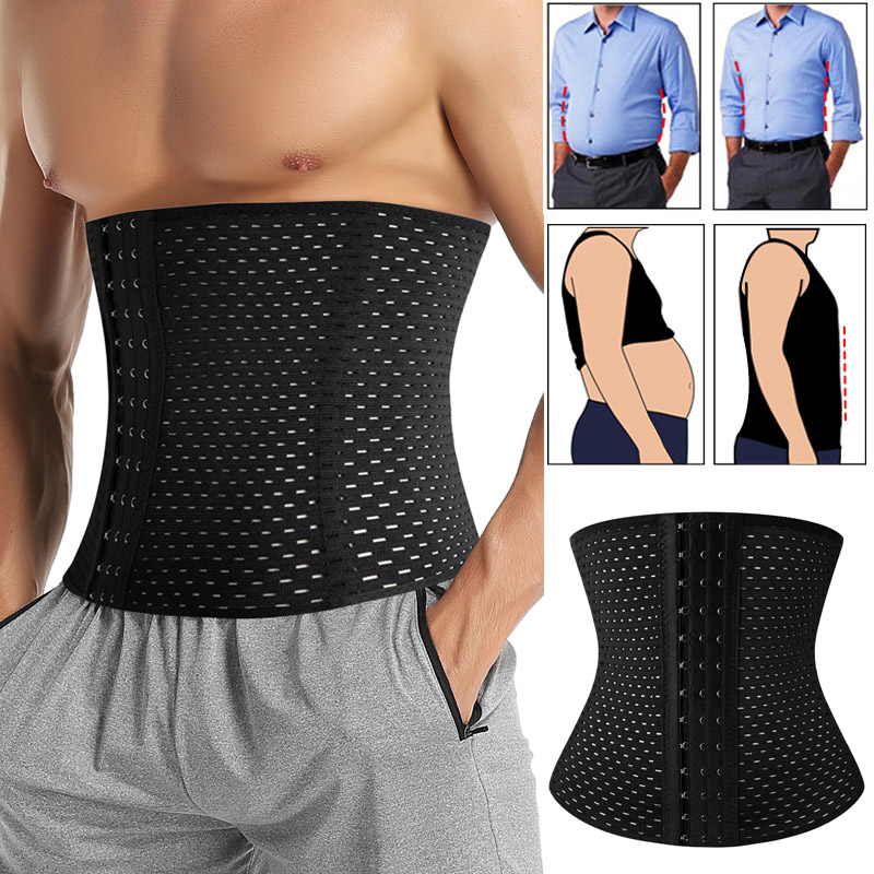 Men Slimming Body Shaper Waist Trainer Trimmer Belt Corset For Abdomen Belly Shapers Tummy Control Fitness Compression Shapewear