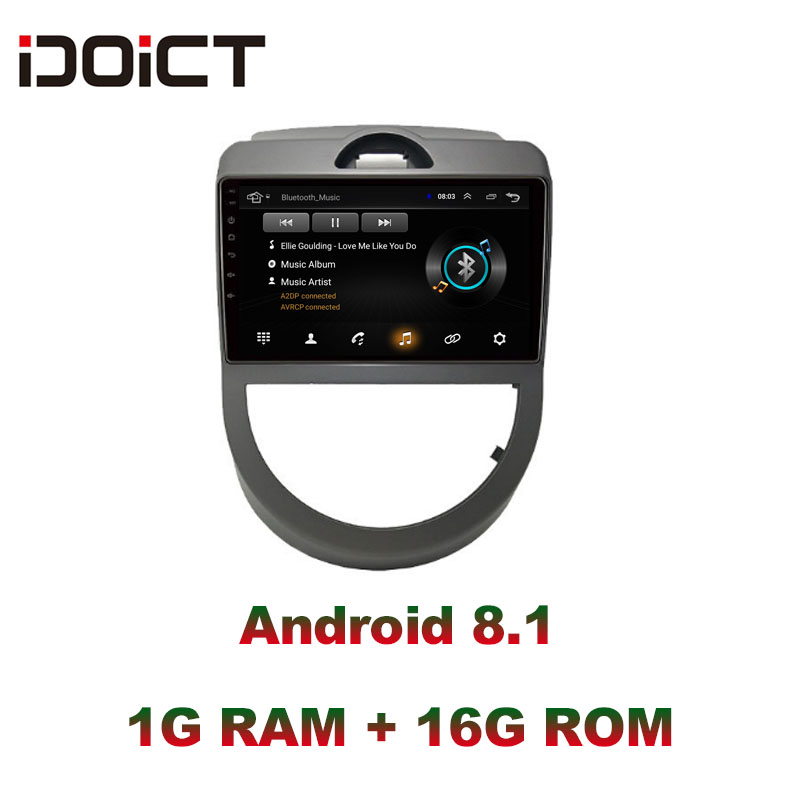 IDOICT Android 8.1 Car DVD Player GPS Navigation Multimedia For KIA Soul 2009 2011 radio car stereo bluetooth wifi