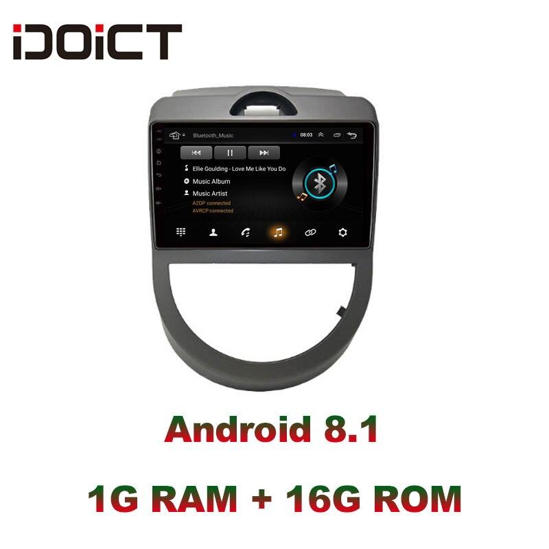 IDOICT Android 8.1 lecteur DVD de voiture GPS Navigation multimédia pour KIA Soul 2009-2011 radio voiture stéréo bluetooth wifi