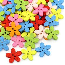 100pcs wooden color plum button diy wooden button craft clothing accessories clothing decoration supplies