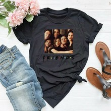 Amigos serie nova york seis amigos camiseta casual unissex engraçado impresso camisetas