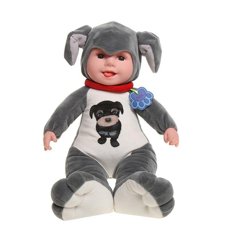 35 cm peluches animaux en peluche Simulation chien en peluche jouet réaliste Animal assis chien poupées doux jouets pour enfants cadeau d'anniversaire