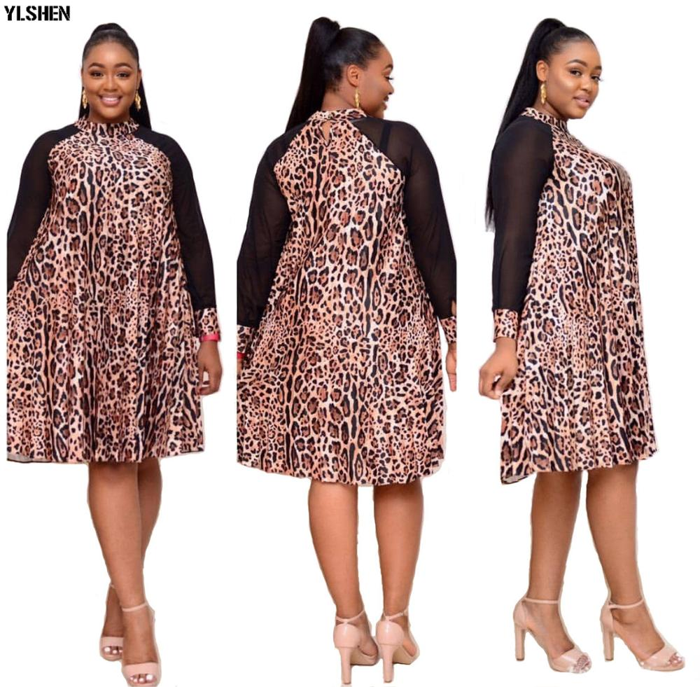 Print Ankara African Dresses For Women Dashiki Mesh Long Sleeve African Clothes Kenya Dress Clothing Basin Riche Robe Africaine