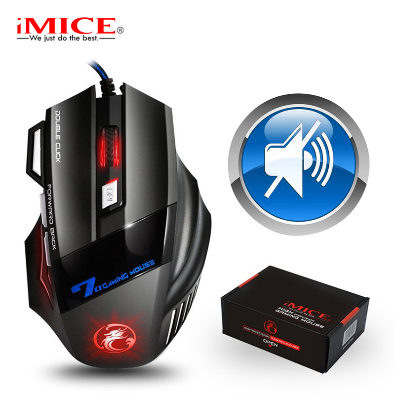 Gaming Muis Gamer 7 Knop 5500 Dpi Wired Ergonomische Muis Led Mause Computer Muis Stille Usb Pc Muizen Met Backlight voor Laptop title=
