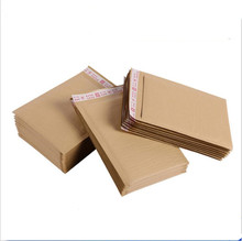 50pcs Brown Color Kraft Paper Bubble Envelope Mailing Bags Business Express Packaging Bag