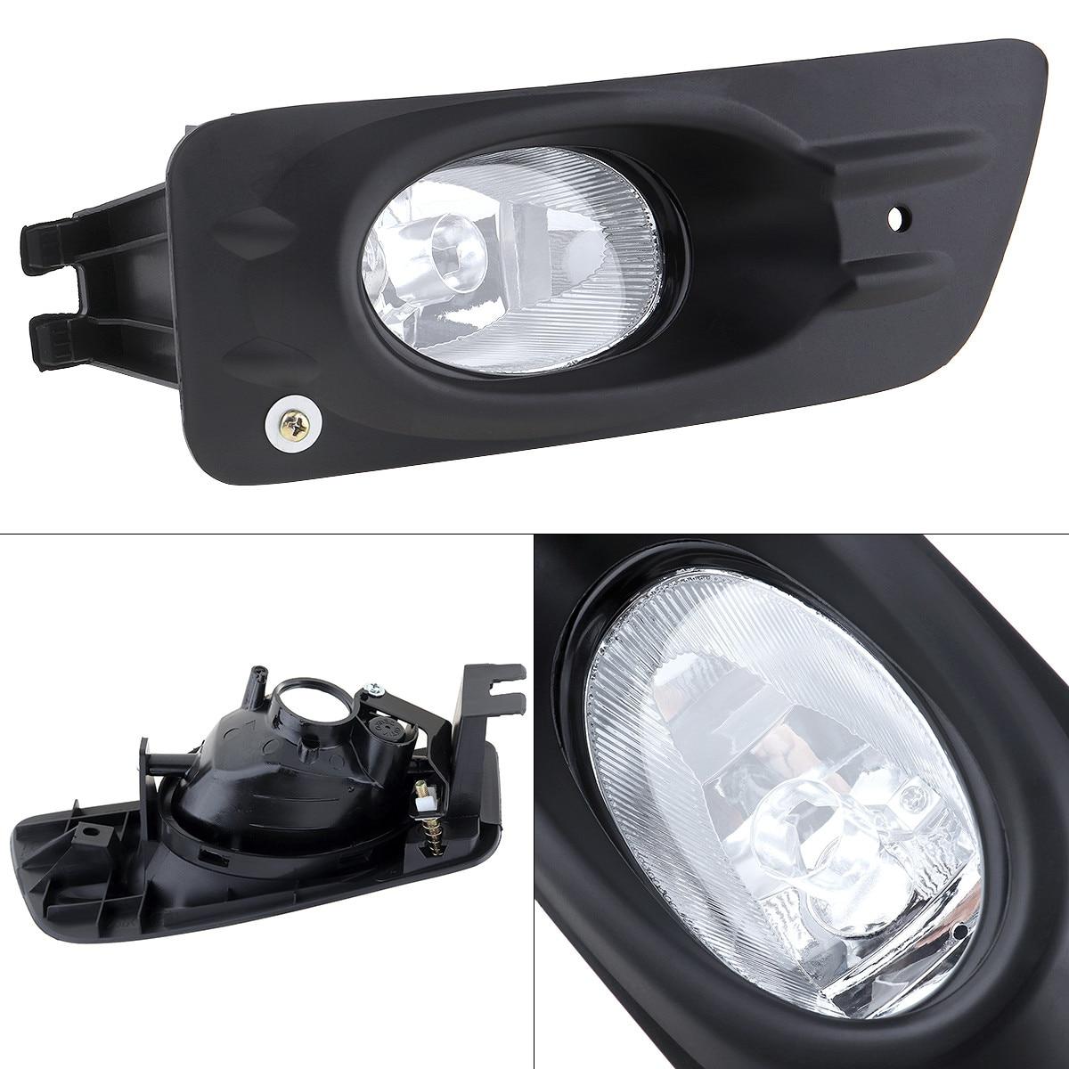 For 2006-2007 Honda Accord 4D Sedan Driving Fog Lights Bumper Lamps+Switch Clear