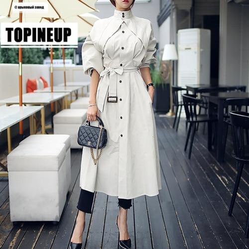 European streetwear Women fashion comfortable loose   trench   coats Vogue ladies long overcoats windbreaker