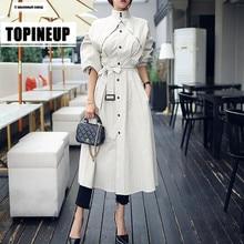 European streetwear Women fashion comfortable loose trench c