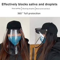 Spot Masks Antivirus Bacteria Mask Anti Spitting Protective Hat Cover Outdoor Adjustable Full Mask Fisherman Hats Cap All-Purpose Covers     -
