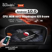 Snapdragon android 10 rádio do carro gps para bmw série 5 e60 e61 e63 e64 e90 e91 navegação áudio do carro autoradio estéreo nenhum 2 din 2din