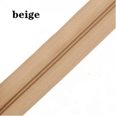 5 м длинная молния нейлон 3# пододеяльник подушка одеяло невидимая молния двойная молния черный и белый - Цвет: BEIGE