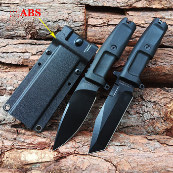 Fixed blade knife 440C blade rubber handle tactical hunting knife outdoor camping survival knives multi diving tool & ABS sheath high quality outdoors tool knives bolte kydex sheath tactical camping hunting diving knife d2 steel blade black g10 handle