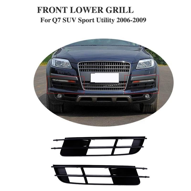Front Bumper Lower Grille Cover For- Q7 Mk1 2006-2009 Pair 4l0807681 4l0807682