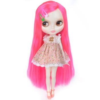 Neo Blyth Doll Customized NBL Shiny Face,1/6 OB24 BJD Ball Jointed Doll Custom Blyth Dolls for Girl, Gift for Collection YM01 [wamami] for 12 neo blyth doll 7 joints purple short wig matte face