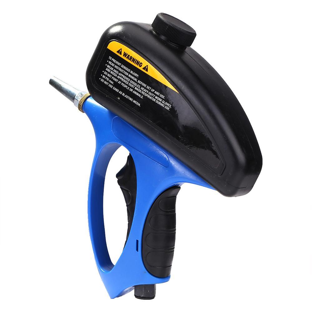Anti-rust Sandblaster Handheld Portable Gravity Sandblasting Gun Pneumatic Air Compressed Glass Tombstone Sandblasting Machine