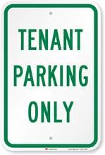 SmartSign – panneau de Parking uniquement réfléchissant en aluminium, 12
