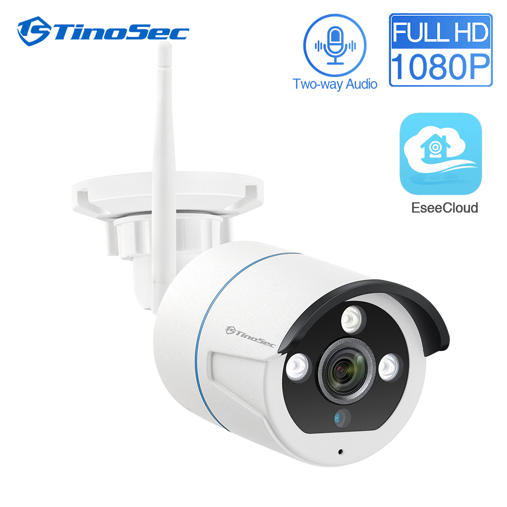 TinoSec 1080P Wireless Outdoor Security Camera Weatherproof 2MP IP WiFi Outdoor Camera For Tinosec CCTV Camera System EseeCloud