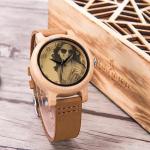 Image 2 - 사용자 정의 시계 개인 사진 인쇄 사용자 정의 커플 시계 남자 여자 크기 나무 선물 상자 아날로그 Relogio Feminino Masculino