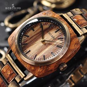 Image 1 - BOBOBIRD роскошные часы из дерева зебры, женские и мужские модные наручные часы, часы Erkek Kol Saati с подарочной коробкой, возможен индивидуальный логотип, на заказ, на заказ, с логотипом, на заказ, на заказ