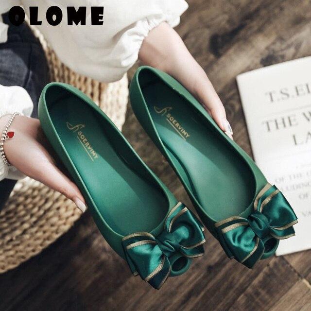 Sandalias de verano para mujer, zapatos de primavera para mujer, calzado de cabeza, zapatos de gelatina, zapatos de Boca de pescado con lazo a la moda, novedad de 2019
