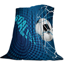 Soccer Curtains Balls Football Blankets Coverlet Throw Cover Fleece Comfort Warm Room Indoor Couch Home Hall Bedspread Blanket