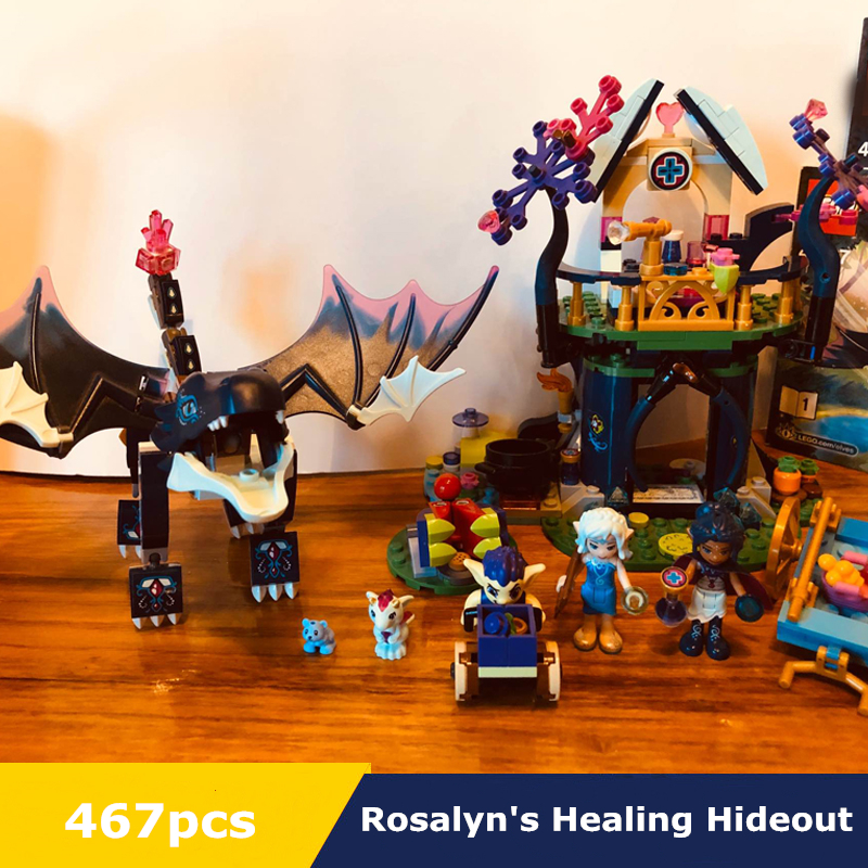 467pcs Elves Series Rosalyn's Healing Hideout Tree House Model Building Blocks Children Fairy Princess 41187 Toys for Girls image