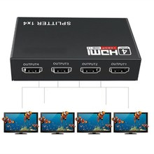 HDMI ספליטר 1 ב 4 מתוך מלא HD 4 Port רכזת מהדר מגבר v1.4 3d 4k 1080p עבור HDTV DVD עבור PS3 Xbox