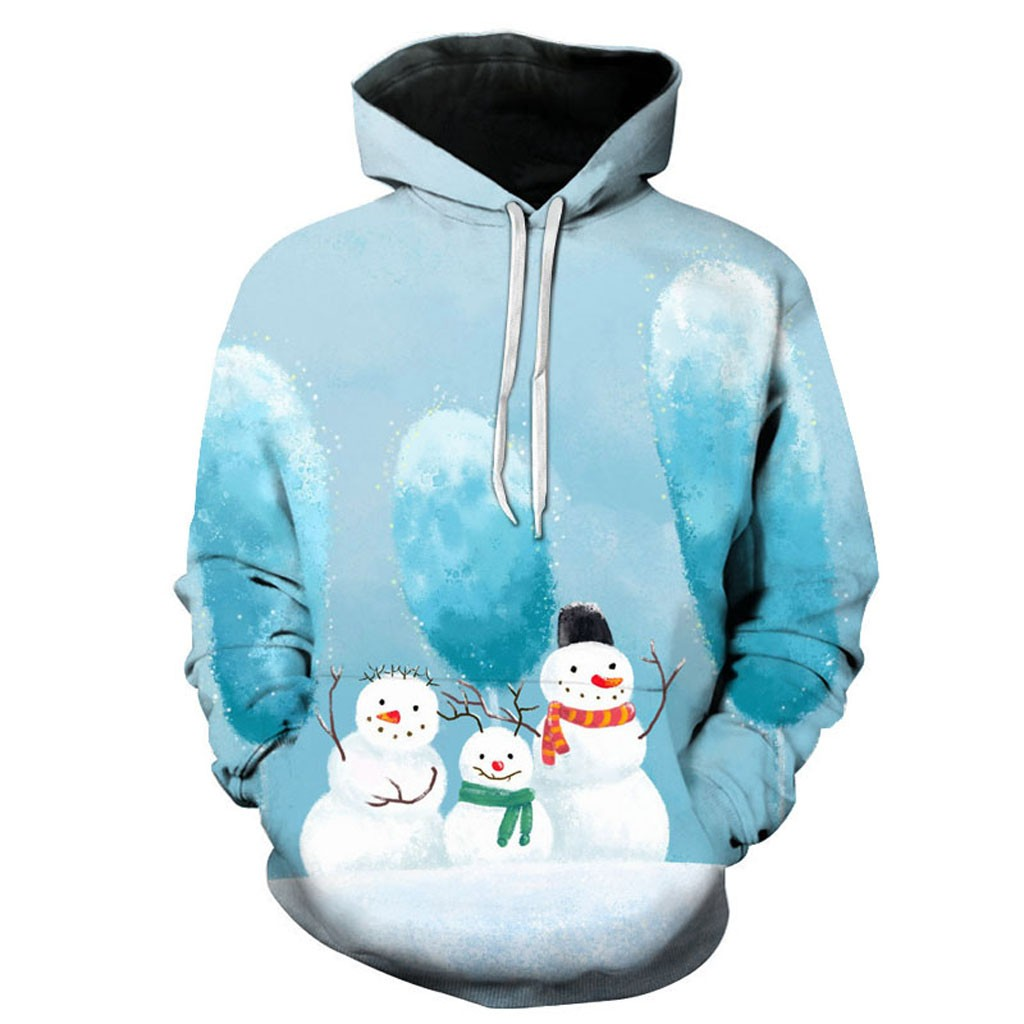 Smiling Snowman with Shades Unisex Zipper Hoodie