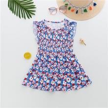 Детская одежда 2020 детская платье с цветочным принтом для маленьких