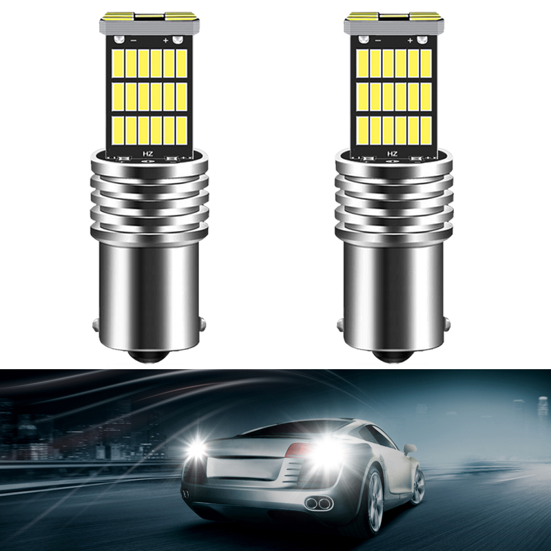2x <font><b>LED</b></font> Canbus P21W 1156 BA15S Bulb For <font><b>Skoda</b></font> Superb <font><b>Octavia</b></font> 2 FL <font><b>2010</b></font> 2011 2012 2013 <font><b>LED</b></font> Reverse Brake Light DRL Lamp 1200LM image