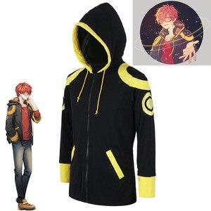 Disfraz de Cosplay del Anime Mystic Messenger 707 de Saeyoung Luciel Choi, Sudadera con capucha, chaqueta, suéter, sudaderas, ropa deportiva, abrigo, Top