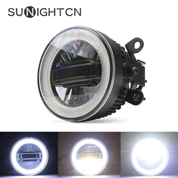 SUNIGHTCN Fog Lamp LED Car Light Daytime Running Light DRL 3-in-1 Function Auto Projector Bulb For Nissan Patrol 2005 - 2018