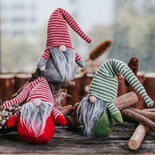 Merry Christmas Swedish Santa Gnome Plush Doll Ornaments Handmade Elf Toy Holiday Home Party Decoration Kids Gift цена