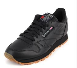 Genuine Reebok Classic Leather Retro Men And Women Shoes Low Black Anti-slippery Sports Leather Badminton Shoes