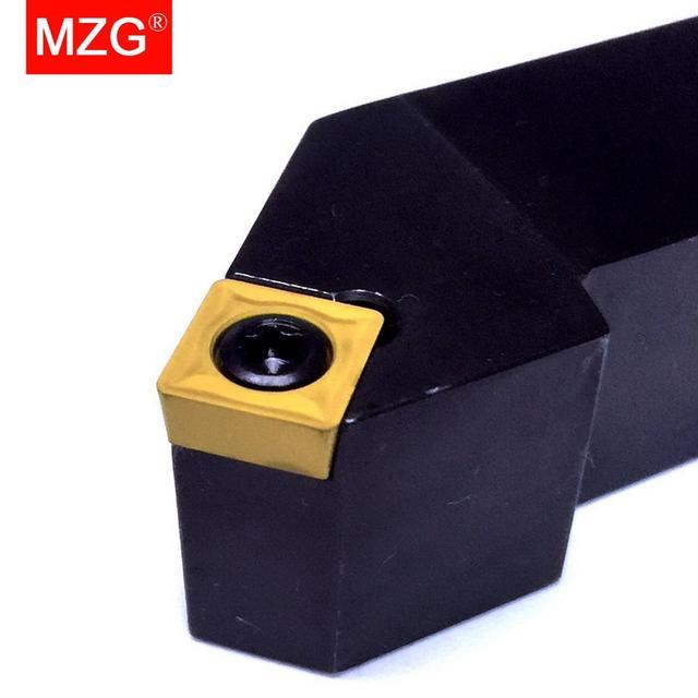MZG CNC 12 millimetri 20 millimetri SSSCR1616H09 Esterno Attrezzi Per Alesatura Tornitura Arbor Tornio Barra di Taglio SCMT Inserti IN METALLO DURO Bloccato Acciaio Inox Portautensili