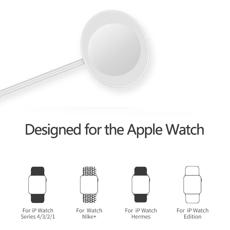 Магнитное небольшое зарядное устройство, совместимое с Apple Watch 3 4 5 6, умные индукционные часы, зарядка через USB, портативное зарядное устройст...