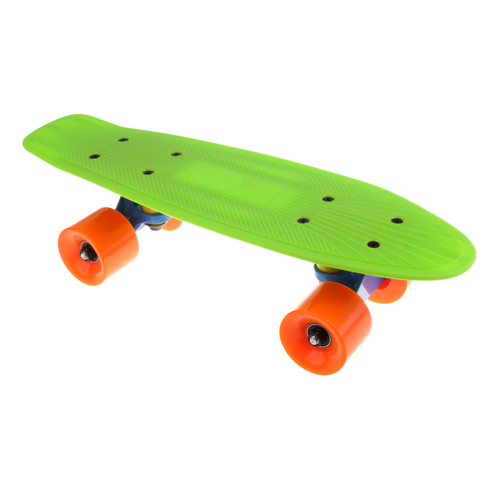 Complete Skateboard For Kids Youth Beginners, 17 X 5.3 Inches, Green