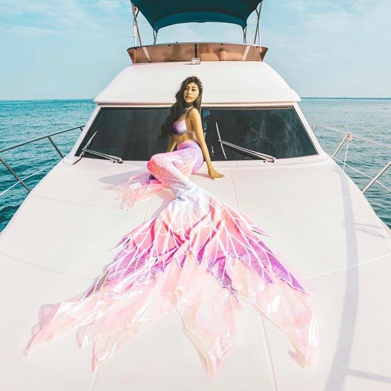 Erwachsene kind meerjungfrau lange schwanz badeanzug nach tauchen meerjungfrau cosplay kostüm eltern-kind badeanzug bühne aquarium zeigen