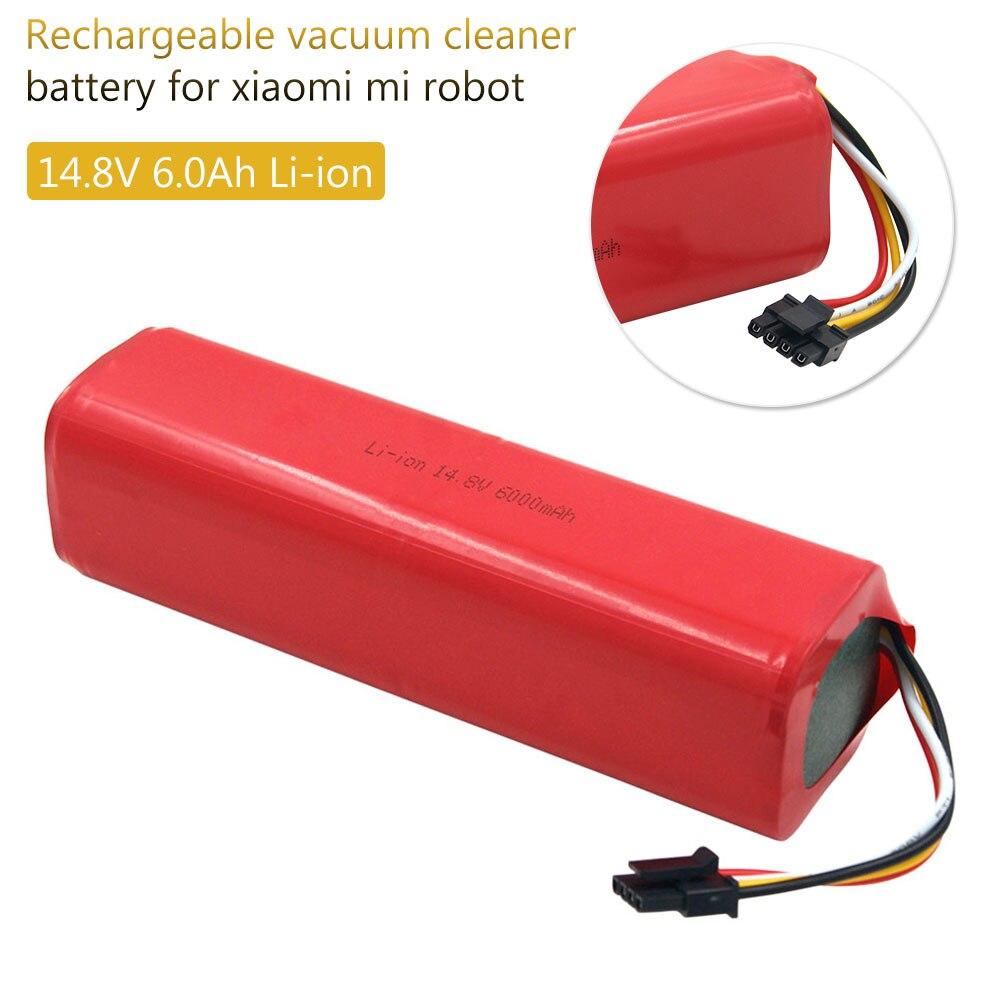 Литий-ионная аккумуляторная батарея 14,4 в 6000 мач для робота-пылесоса Xiaomi MiJia Xiaowa Roborock S50 S51