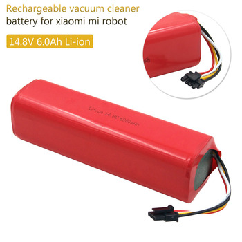 14.4v 6000mAh Lithium Ion Rechargeable Battery for Xiaomi MiJia Xiaowa Robot Vacuum Cleaner Roborock S50 S51