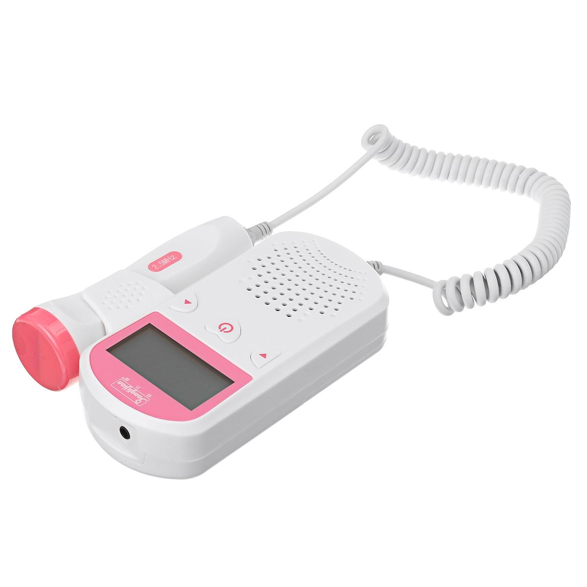 Digital LCD Prenatal Fetal Doppler Heart Sound Monitor Screen Display Tester Detector Pregnant FetalPulse Meter Monitors 2.0MHz