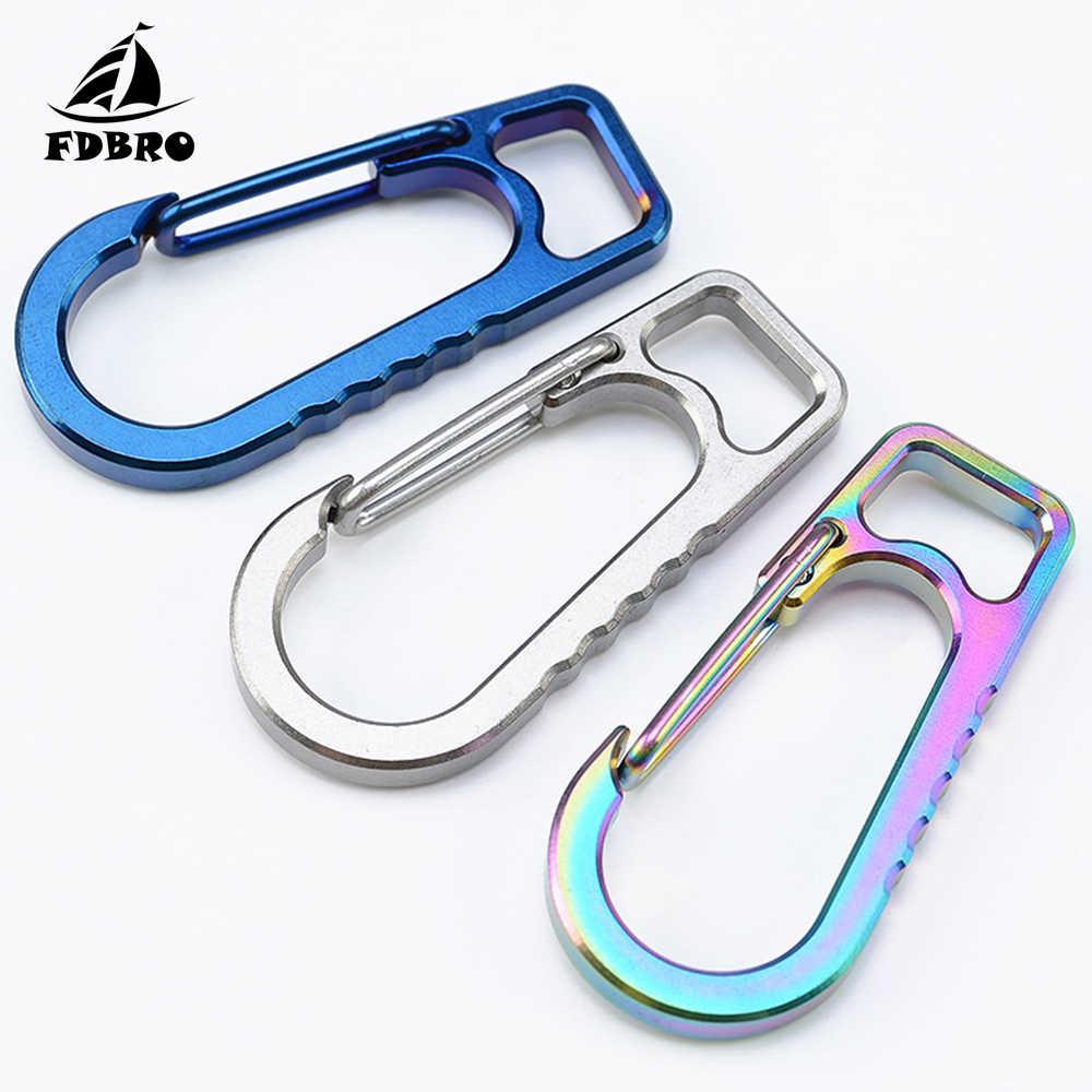 Titanium Alloy Keychain Clip Hook Holder Carabiner Outdoor Backpack Hanging