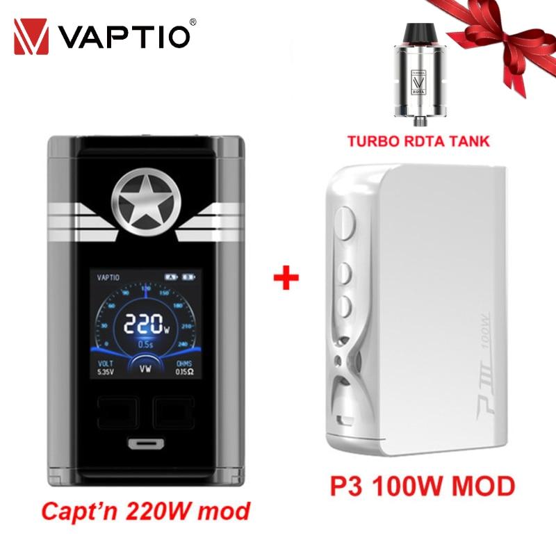 Original Vaptio Capt'n 220W Vape Mod Box 18650 Battery 1.3
