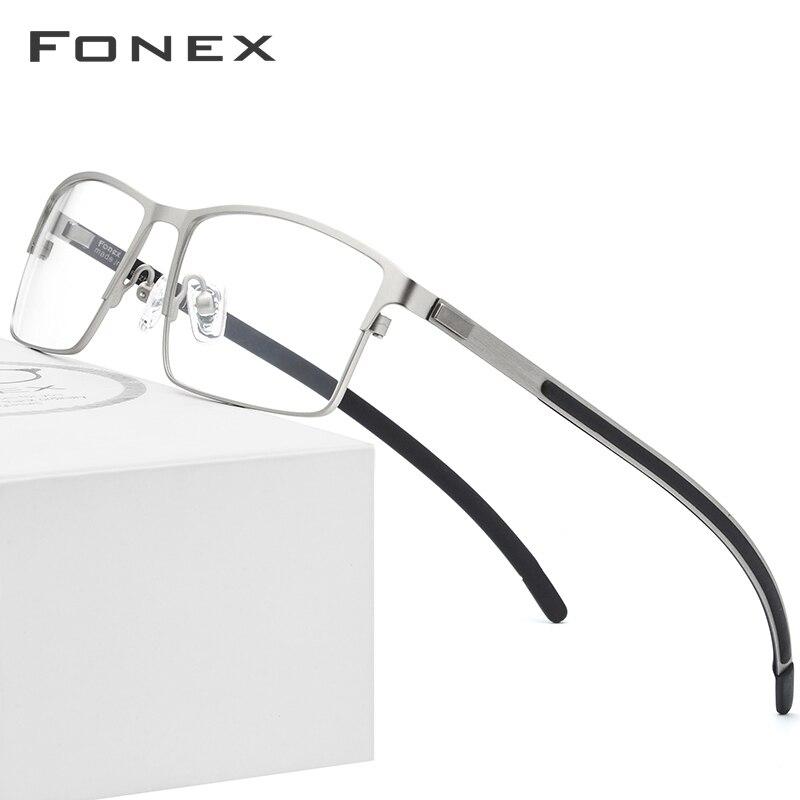 Titane alliage optique lunettes cadre hommes ultraléger carré myopie Prescription lunettes 2019 mâle métal complet sans vis lunettes