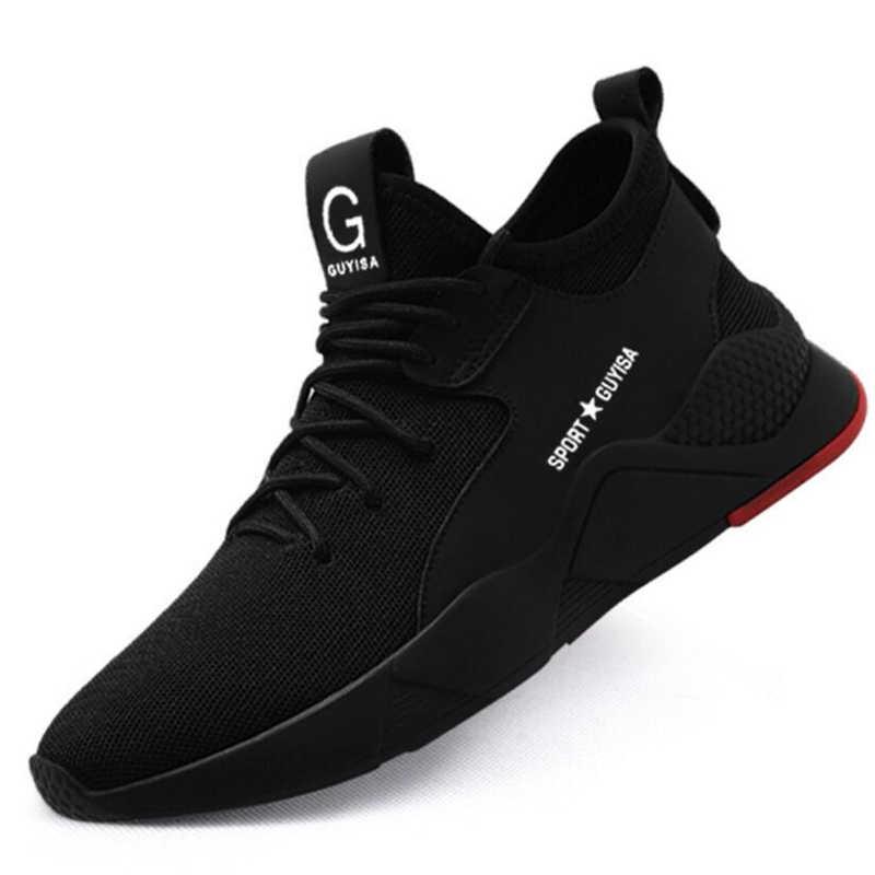 Мужская Рабочая обувь со стальным носком Повседневные Дышащие Кроссовки уличные ПРОКАЛЫВАЮЩИЕ ботинки удобные промышленные ботинки для мужчин