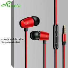 Roreta Wired Earphone High Bass Stereo In Ear Headset With Microphone Earbuds Earphones Handsfree call for xiaomi iPhone Samsung