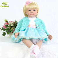 24/60 cm Handmade Dolls Silicone Reborn Babies Alive Doll Toys for Children Adorable Doll menina Chirstmas Girl bebes reborn