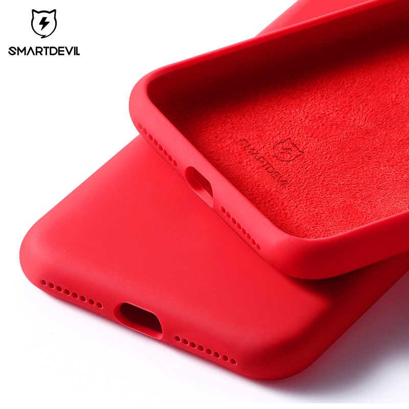 Чехол для телефона SmartDevil для iPhone 12 Pro Max 11 7 8 Plus XR X XS SE2020 однотонные силиконовые пары милые яркие цвета мягкие простые
